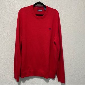 Chaps Men's NWOT Red Knit Pullover Sweater